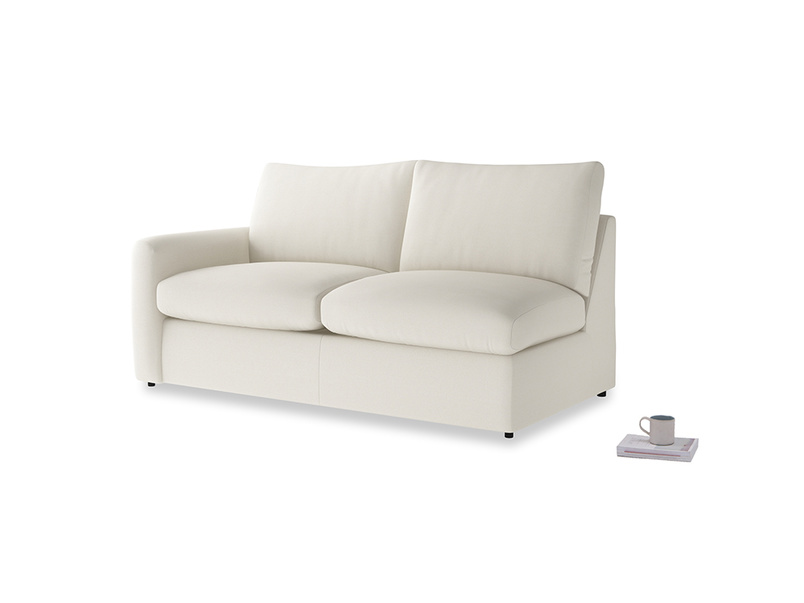 Chatnap Sofa Bed in Chalky White Clever Softie with a left arm