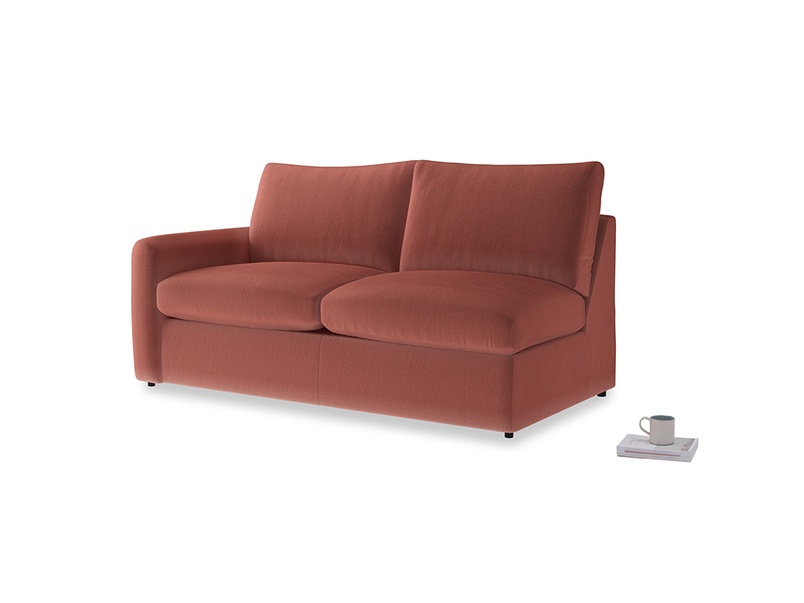 Chatnap Sofa Bed in Dusty Cinnamon Clever Velvet with a left arm