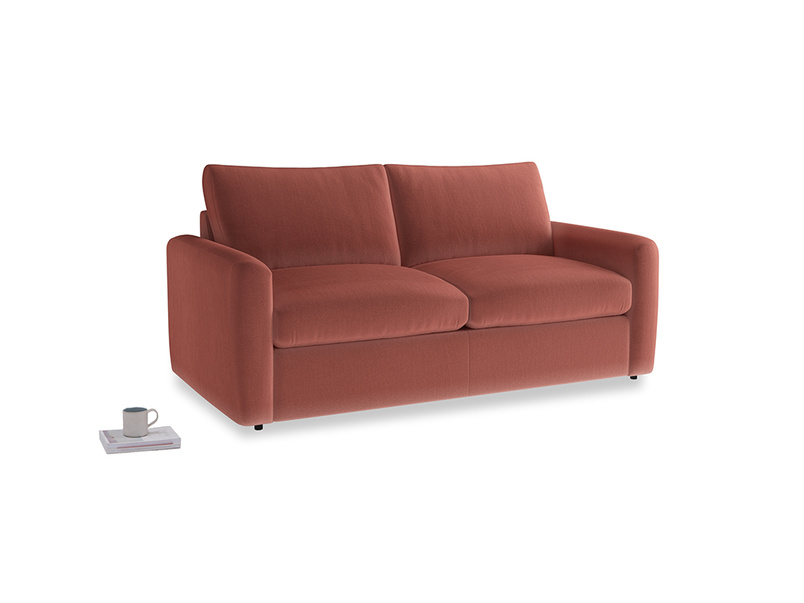 Chatnap Storage Sofa in Dusty Cinnamon Clever Velvet with both arms