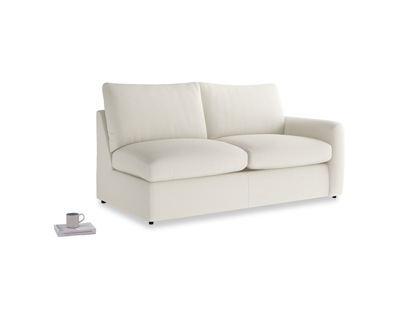 Chatnap Sofa Bed in Chalky White Clever Softie with a right arm
