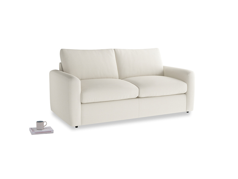 Chatnap Sofa Bed in Chalky White Clever Softie with both arms