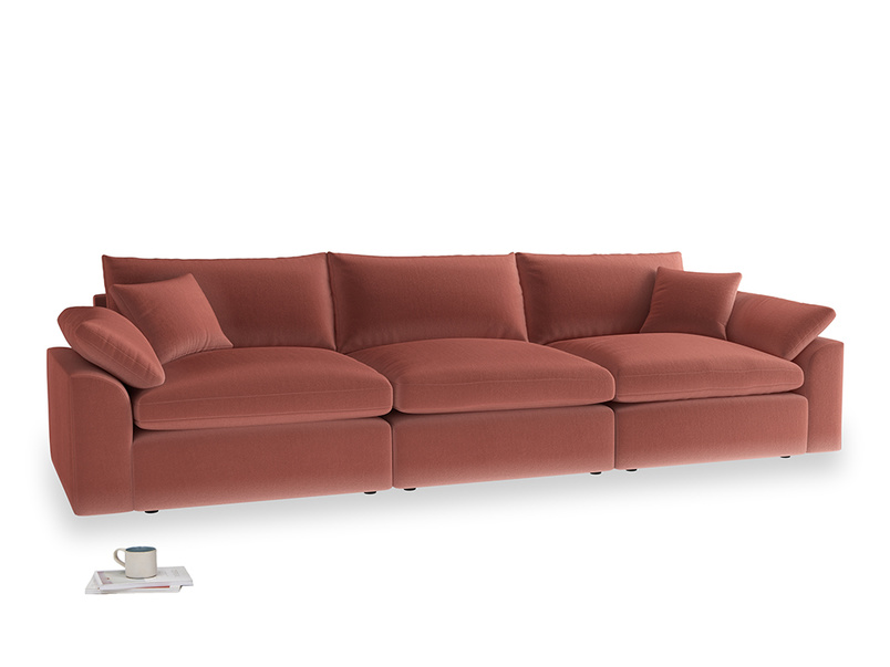 Large Cuddlemuffin Modular sofa in Dusty Cinnamon Clever Velvet