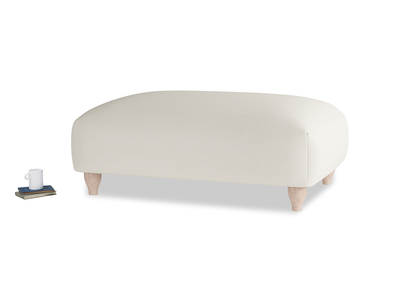 Soufflé Footstool in Chalky White Clever Softie