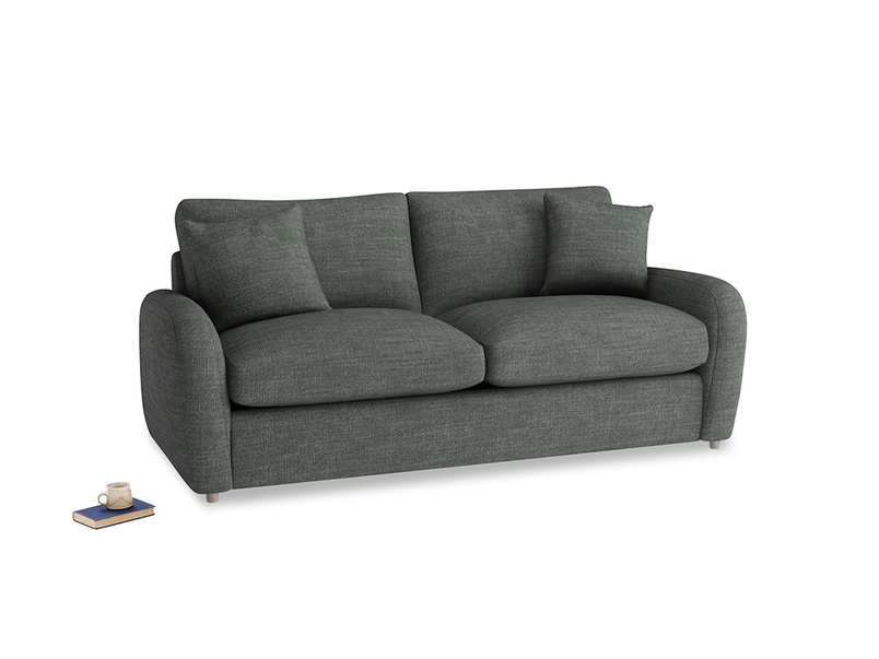 Medium Easy Squeeze Sofa Bed in Pencil Grey Clever Laundered Linen