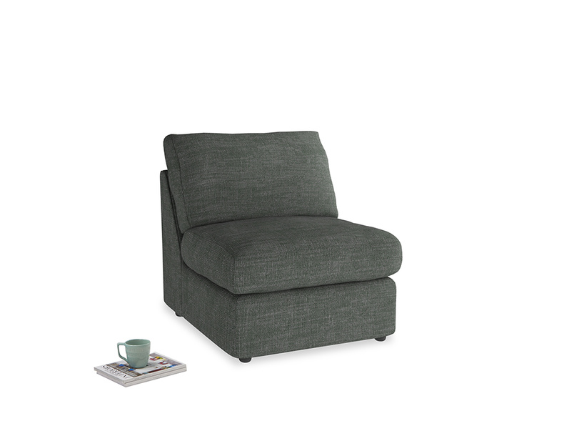 Chatnap Storage Single Seat in Pencil Grey Clever Laundered Linen