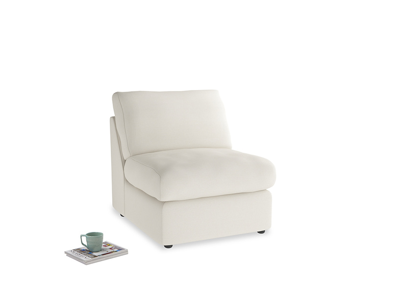 Chatnap Storage Single Seat in Chalky White Clever Softie