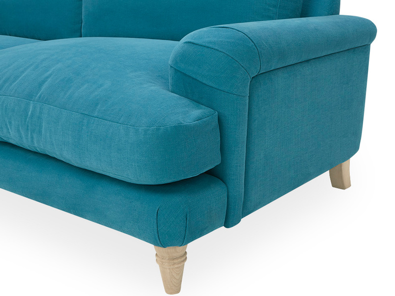 Cinema Deep Upholstered Low Arm Sofa Side Detail