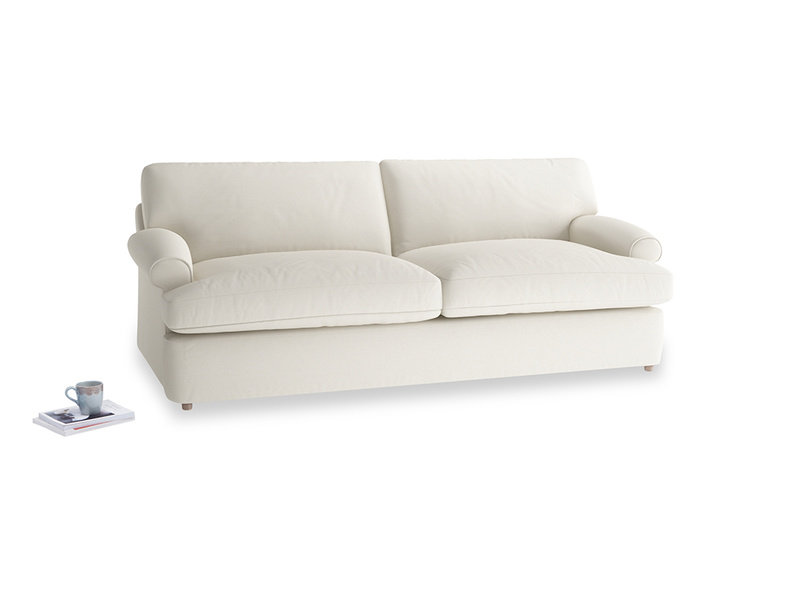Large Slowcoach Sofa Bed in Chalky White Clever Softie
