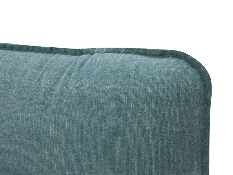 Pillow Talker feather filled headboard cushion detail