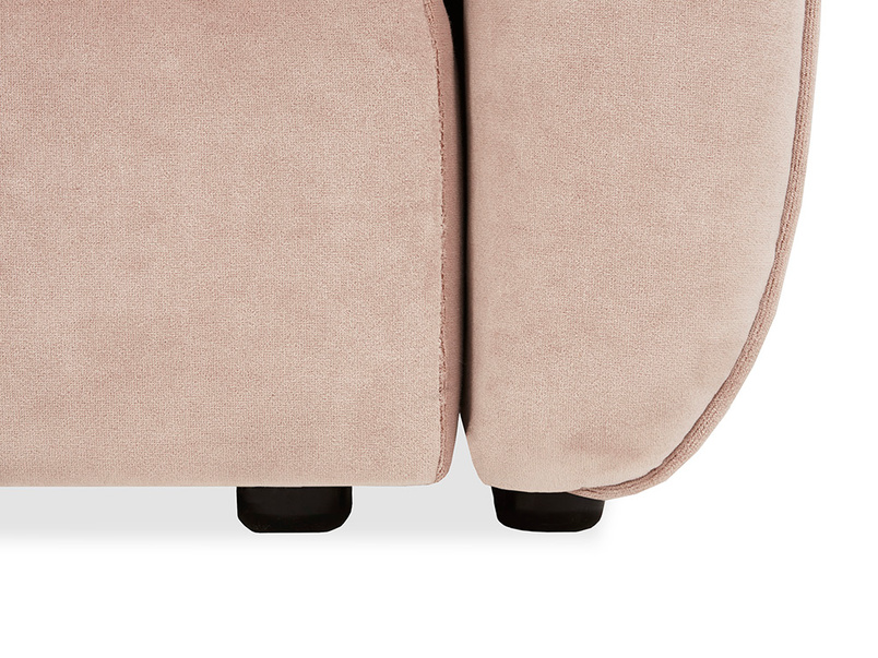 Tootsie Low Back Armchair with Footstool Foot Detail