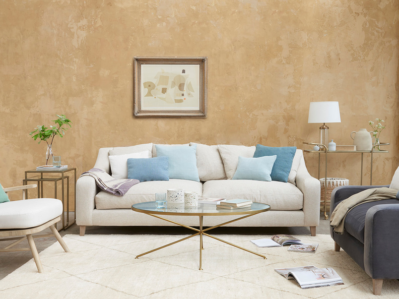 Oscar Upholstered Sofa with Scatter Cushions