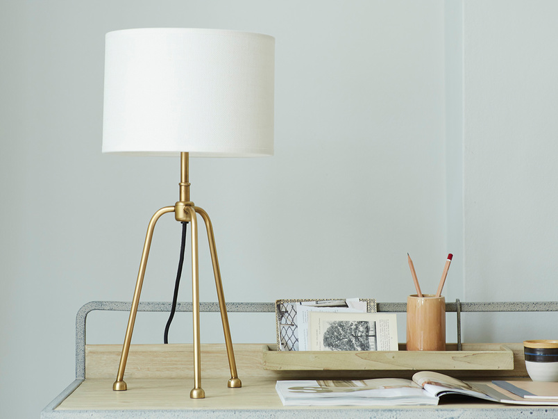 Shutterbug Large Brass Legged Table Lamps