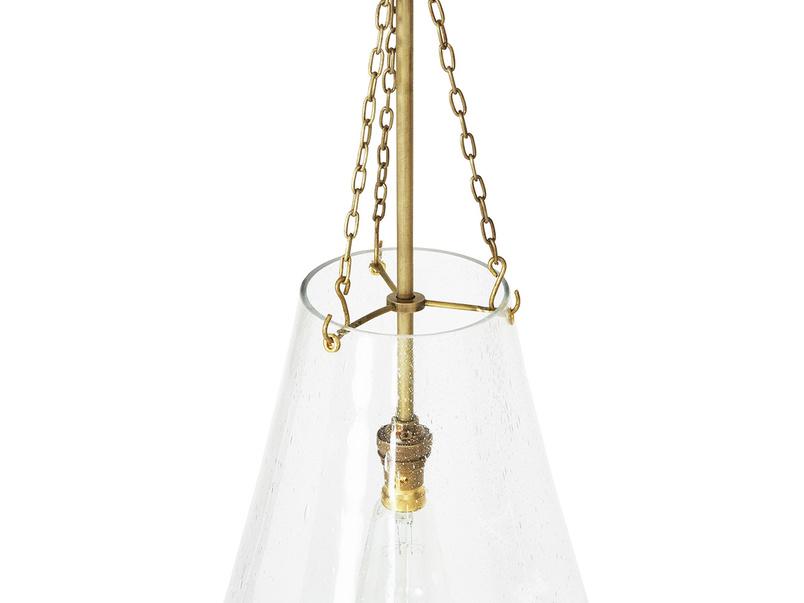 Glassblower Glass Pendant Light Detail