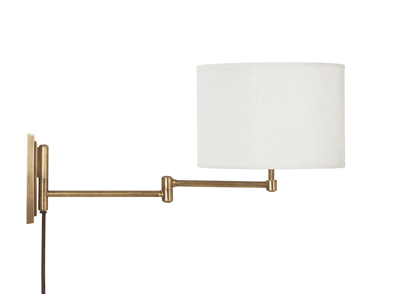 Page Turner Adjustable Wall Light With Shade Side View