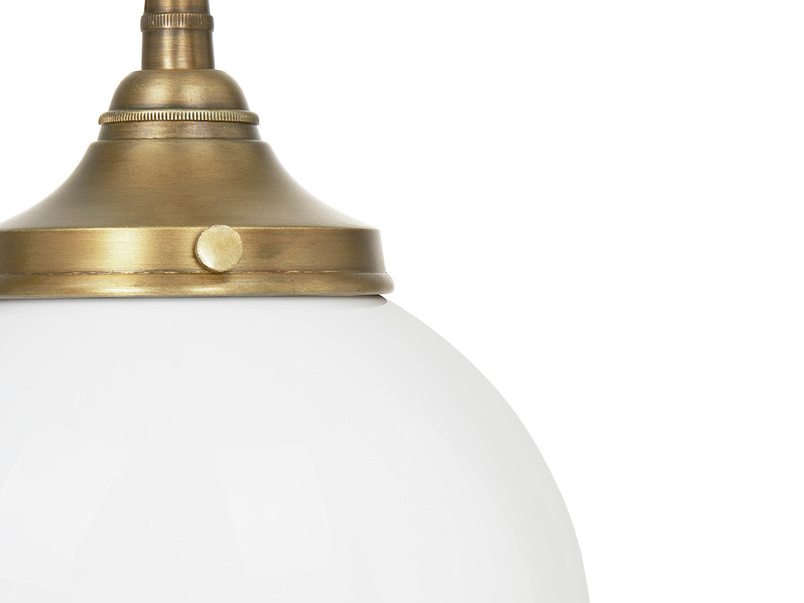Barfly White Glass Pendant Lamp Detail