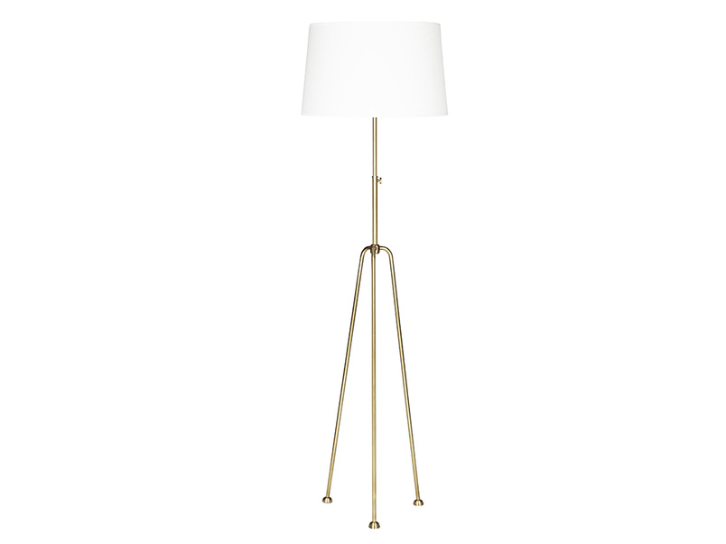 Shutterbug Brass Tree Legged Floor Lamp