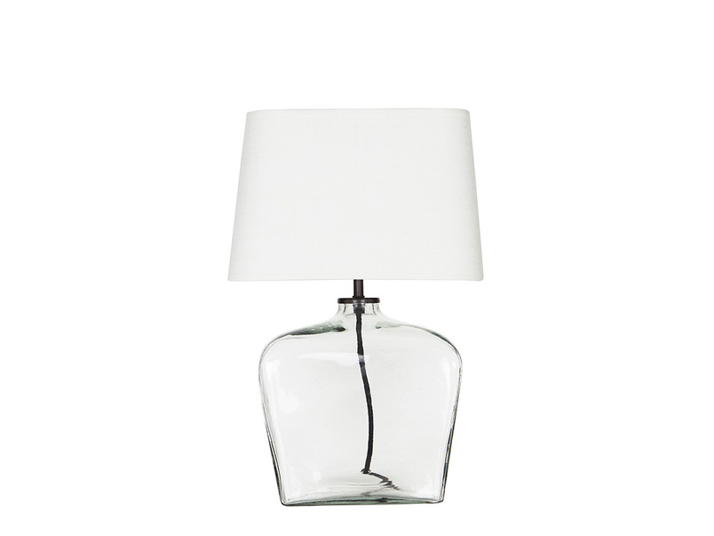 Ernie Square Glass Table Lamp