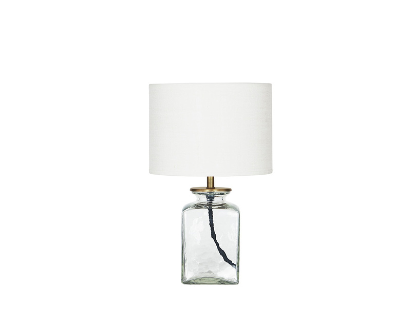 Marmalade Square Glass Lamp Side View