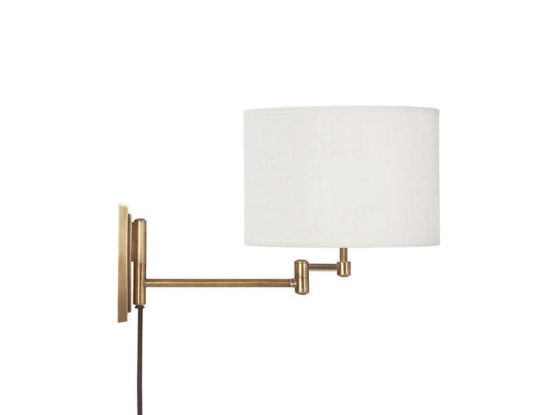 Page Turner Wall Lamp with Natural Hessian shade