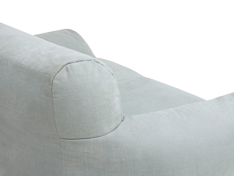 Layabout foam filled frameless floor sofa back detail