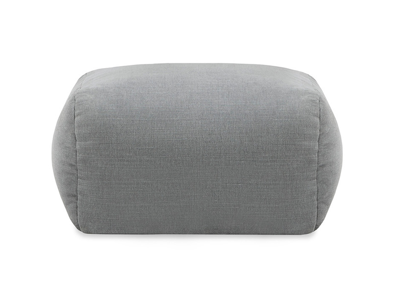 Layabout foam filled footstool front