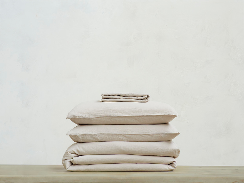 Everyday Linen Bed Linen Bundle in Stone