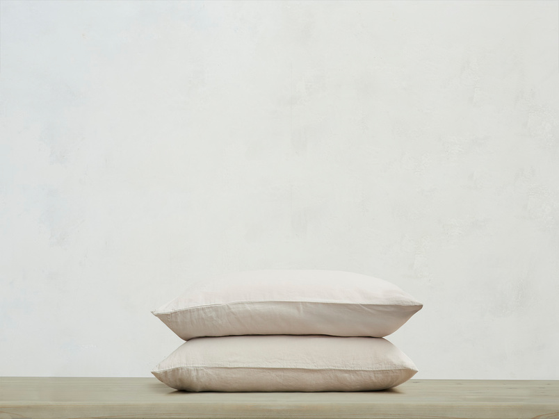 Everyday Linen Pillowcase in Stone Grey x2