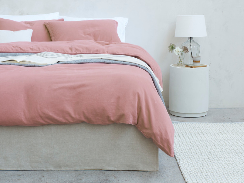 Lazy Cotton super soft Bed sheets in Old Rose