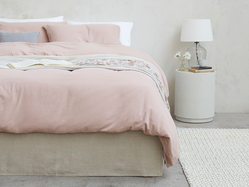Lazy Cotton super soft 100 percent cotton Bed sheets in Pink Putty