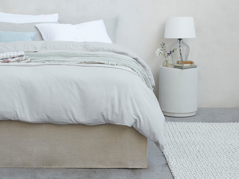 Lazy Cotton super soft pure cotton Bed sheets in Sky Grey