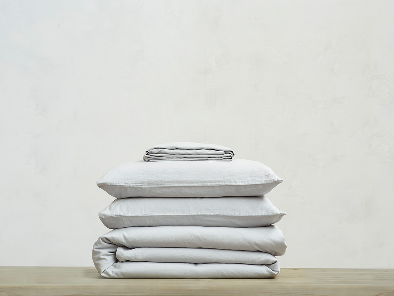 Lazy Cotton super soft pure cotton Bed sheets bundle in Sky Grey