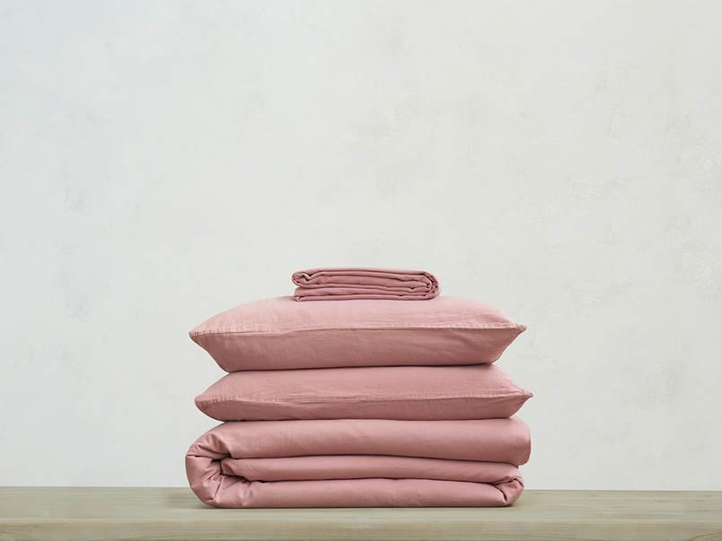 Lazy Cotton 100 percent super soft Bed sheets bundle in Old Rose