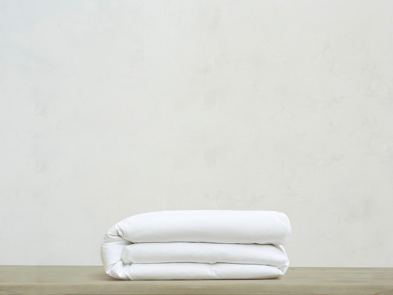 Superking Tumbled Cotton Duvet Cover in White