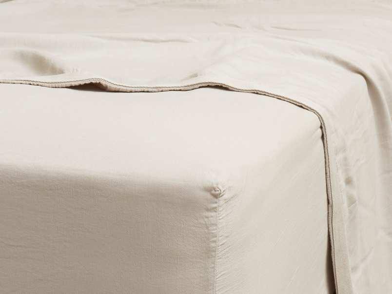 Superking Tumbled Cotton Fitted Sheet in Stone Grey