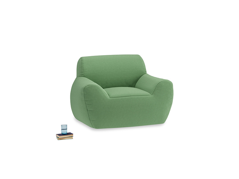 Layabout Chair Squidger in Clean green Brushed Cotton
