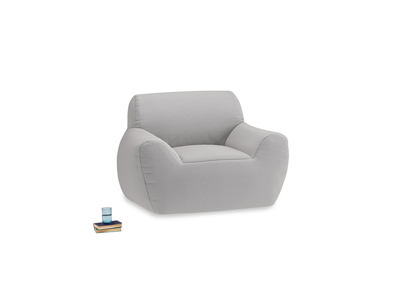 Layabout Chair Squidger in Flint brushed cotton