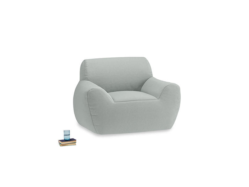 Layabout Chair Squidger in French blue brushed cotton