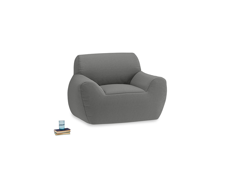 Layabout Chair Squidger in French Grey brushed cotton