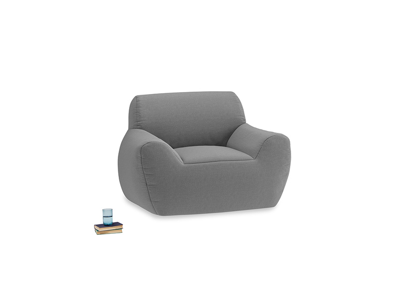 Layabout Chair Squidger in Gun Metal brushed cotton