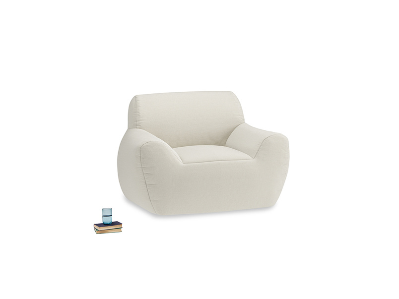 Layabout Chair Squidger in Oat brushed cotton