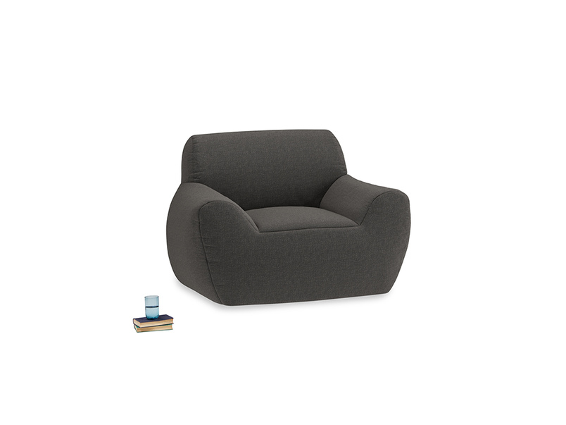 Layabout Chair Squidger in Old Charcoal brushed cotton