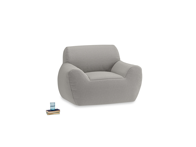Layabout Chair Squidger in Wolf brushed cotton
