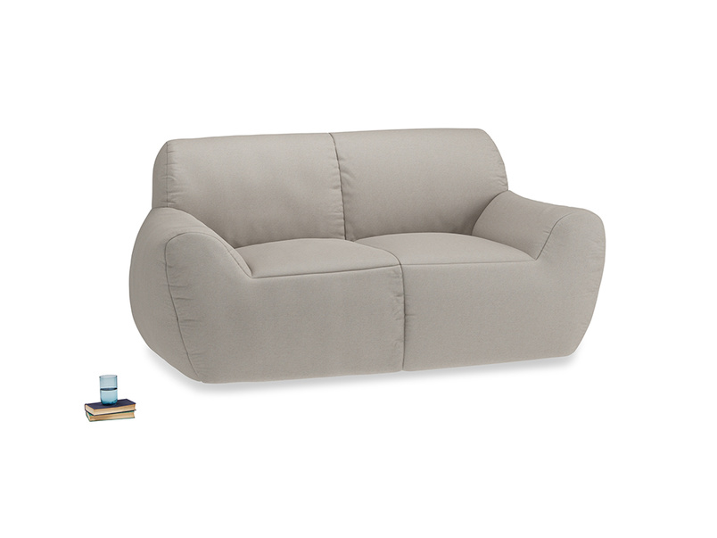 Layabout Sofa Squidger in Sailcloth grey Clever Woolly Fabric