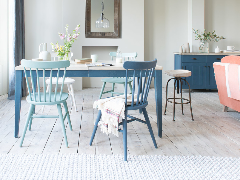 Natterbox kitchen chairs in Easy Blue