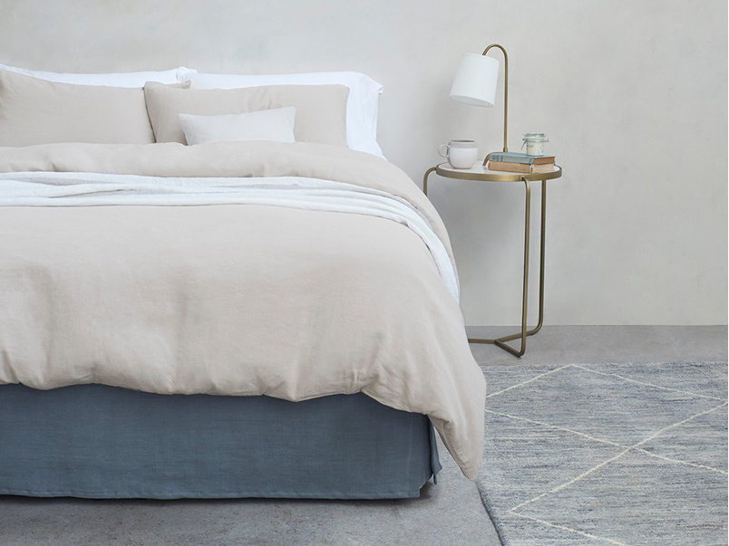 Everyday Linen bed linen in Stone Grey