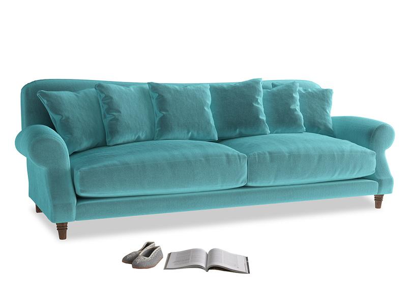 Extra large Crumpet Sofa in Belize clever velvet
