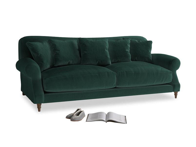 Large Crumpet Sofa in Dark green Clever Velvet