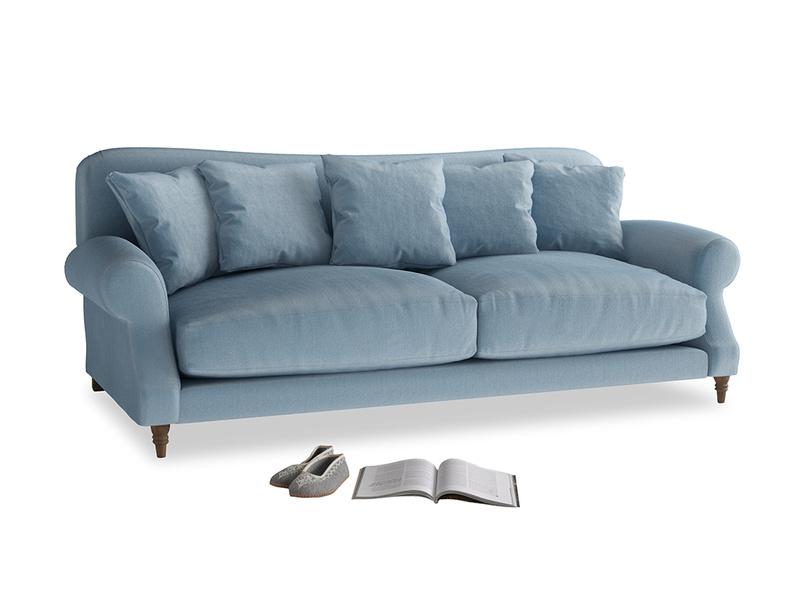 Large Crumpet Sofa in Chalky blue vintage velvet