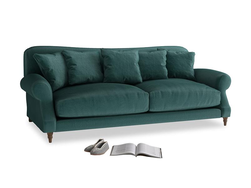 Large Crumpet Sofa in Timeless teal vintage velvet