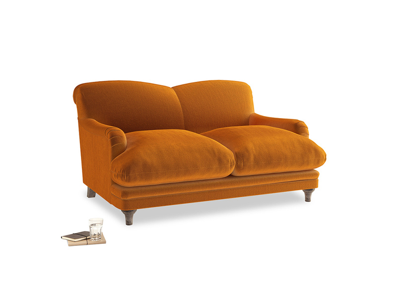 Small Pudding Sofa in Spiced Orange clever velvet